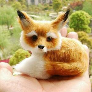 Realistic-Stuffed-Animal-Soft-Plush-Kids-Toy-Sitting-Fox-Home-Decor-9-7-8cm-New