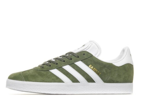 Nuevo verde oliva en caja Unido blanco y 5 Originals Gazelle Reino 10 Adidas Suede OWpPPn