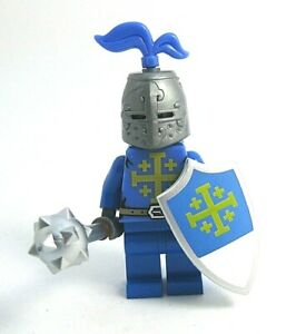 LEGO-custom-chevalier-templier-avec-bouclier-armure-Armes-chateau-NEUF