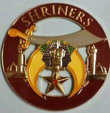 Shriners Brown Cut Out Car Emblem
