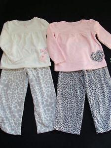 62164c0d8b28 NWT Girls Winter Pajamas Size 4 Carter s Pink 2 Pair Fleece Pjs ...