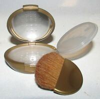 Bare Escentuals Gold Refillable Mirrored Mineral Makeup Compact W/brush $25