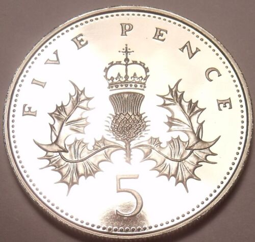 Gem Cameo Proof Great Britain 1988 5 Pence~Only 125,000 Minted~Free Shipping
