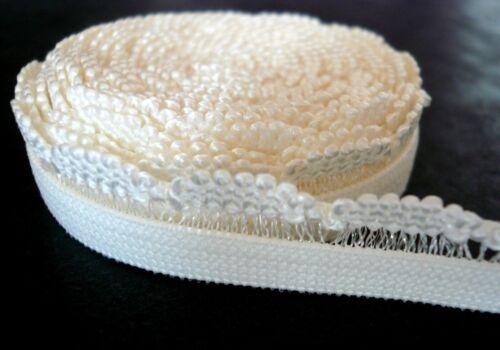 7-12mm Wide Ivory Decorative Scallop Edge Bra// Knicker Making Elastic Trim