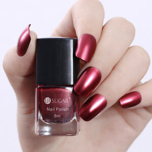 6ml-Metallic-Nail-Polish-Mirror-Red-Metal-Varnish-UR-SUGAR-Decoration