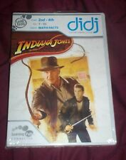 *~New 2 Leap Frog DIDJ Games Indiana Jones & Android Invasion (age 7-10) Math