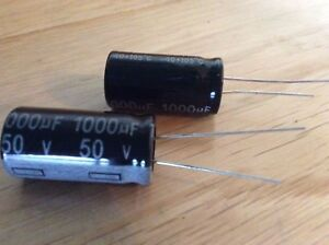 1500 Mfd  uF  Microfarad 35 Volt DC Electrolytic Capacitor Pack Of 4