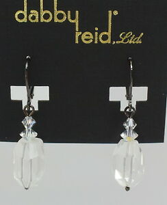 Image Is Loading Dabby Reid New Clear Faceted Crystal Short Drop