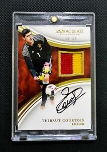 2017 Panini Immaculate Collection Soccer Thibaut Courtois Auto on card patch /60