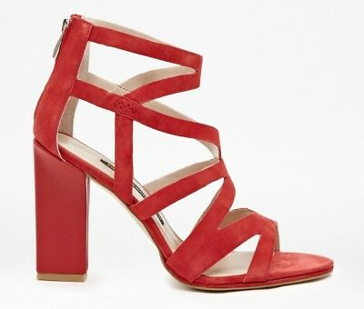 French Connection Isla Suede Shoes Damen Schuhe Sandalen Lipstick Gr.: 38 Neu