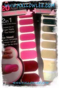 20-Fashion-Nail-Polish-Strips-METALLIC-FOIL-Designs-Double-Ended-Sticker-DESIGNS