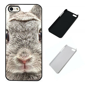Bunny-close-up-cute-plastic-phone-Case-Fits-iPhone