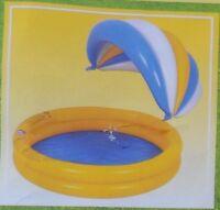 Kinderpool Aufblasbar aus PVC mit Sonnenschutz abnehmbar neu OVP