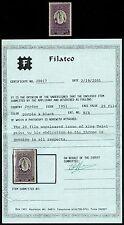 Jordanien Jordan 1951 King Talal Unissued 20 Fils Mint MLH Certificate Filatco