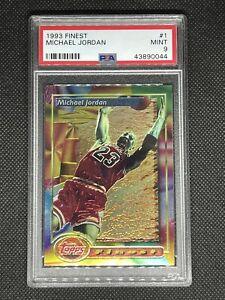 1993-94 Topps Finest #1 Michael Jordan Chicago Bulls GOAT PSA 9 MINT *CENTERED*