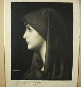 Jean-Jacques-Henner-1829-1905-Engraving-Countersigned-Pencil