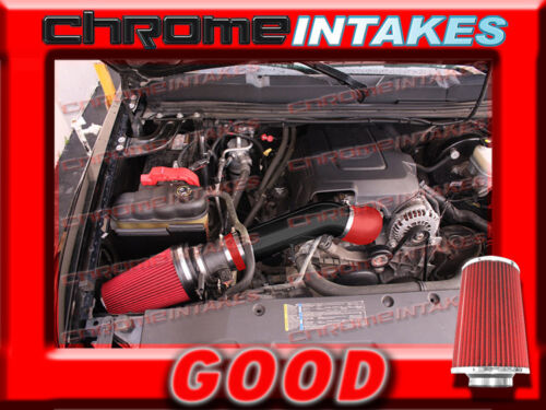 RED 07-08 SILVERADO//TAHOE//SIERRA//YUKON COLD BLACK AIR INTAKE KIT 4/""