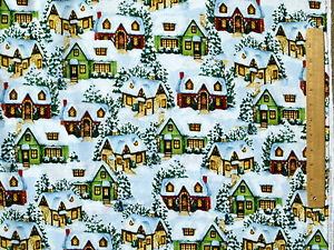 HOME-HOLIDAY-SCENIC-COUNTRY-COTTAGES-DAVID-TEXTILES-COTTON-FABRIC-BY-THE-YARD