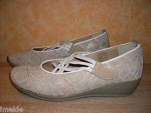 mac-Vmathilda-Klettslipper-Ballerina-NEU-Gr-41-in-beige-amp-Leder-super-bequem