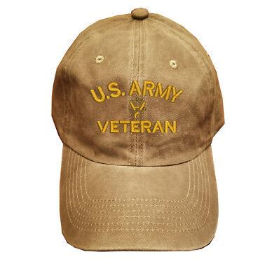 Black Washed cotton cap dad hat PROUD U.S ARMY VETERAN USA ARMY VETERAN