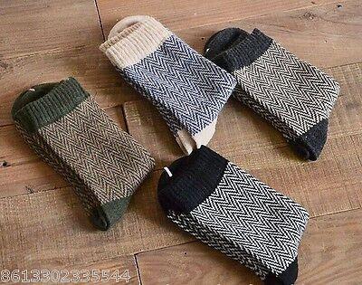 4 Pairs Men Warm Winter Thick wool mixture ANGORA Cashmere Casual Dress Socks AA