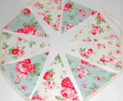 Cath Kidston Bunting Vintage Rose 10ft.3mtrs Wedding Home Garden KikiBe SALE !!!