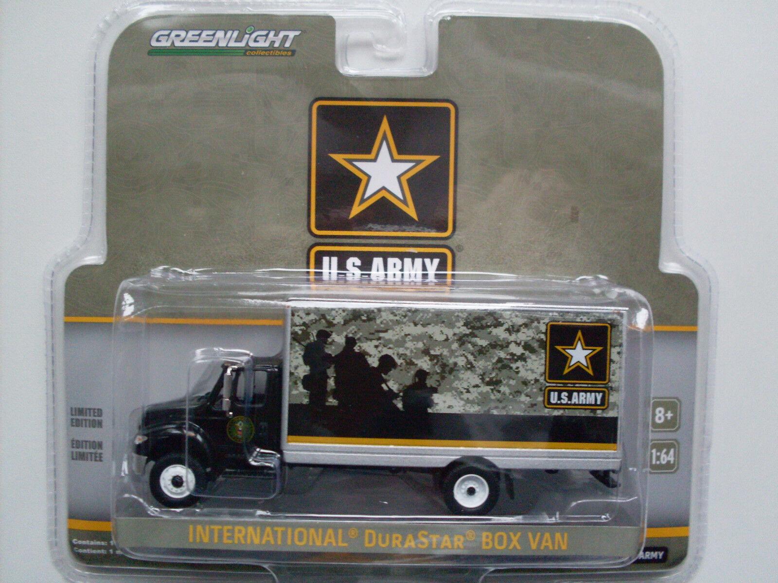 International Durastar Box Box Box Van   US Army  , Greenlight 1 64 Limited Edition 7bb30c
