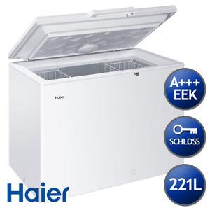 Haier Gefriertruhe HCE221T, EEK A+++ mit Türschloss und Innenbeleuchtung, 221L