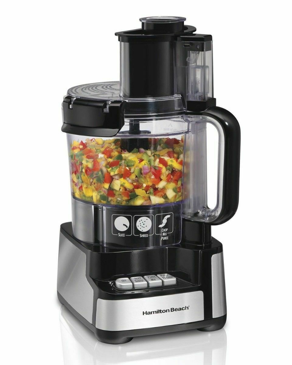 Food Processor, Hamilton Beach 12-Cup food processor and Vegetable Chopper