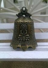 varieties China's mini brass copper sculpture pray Buddha Feng shui bell 42*30mm
