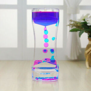 Floating-Color-Mix-Illusion-Liquid-Oil-Hourglass-Timer-Fun-Sensory-Toys-CF7Z