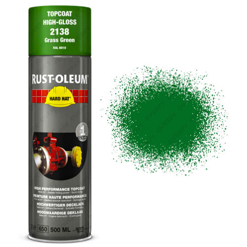 x11 Industrial RustOleum Grass Green Aerosol Spray Paint Hard Hat 500ml RAL6010