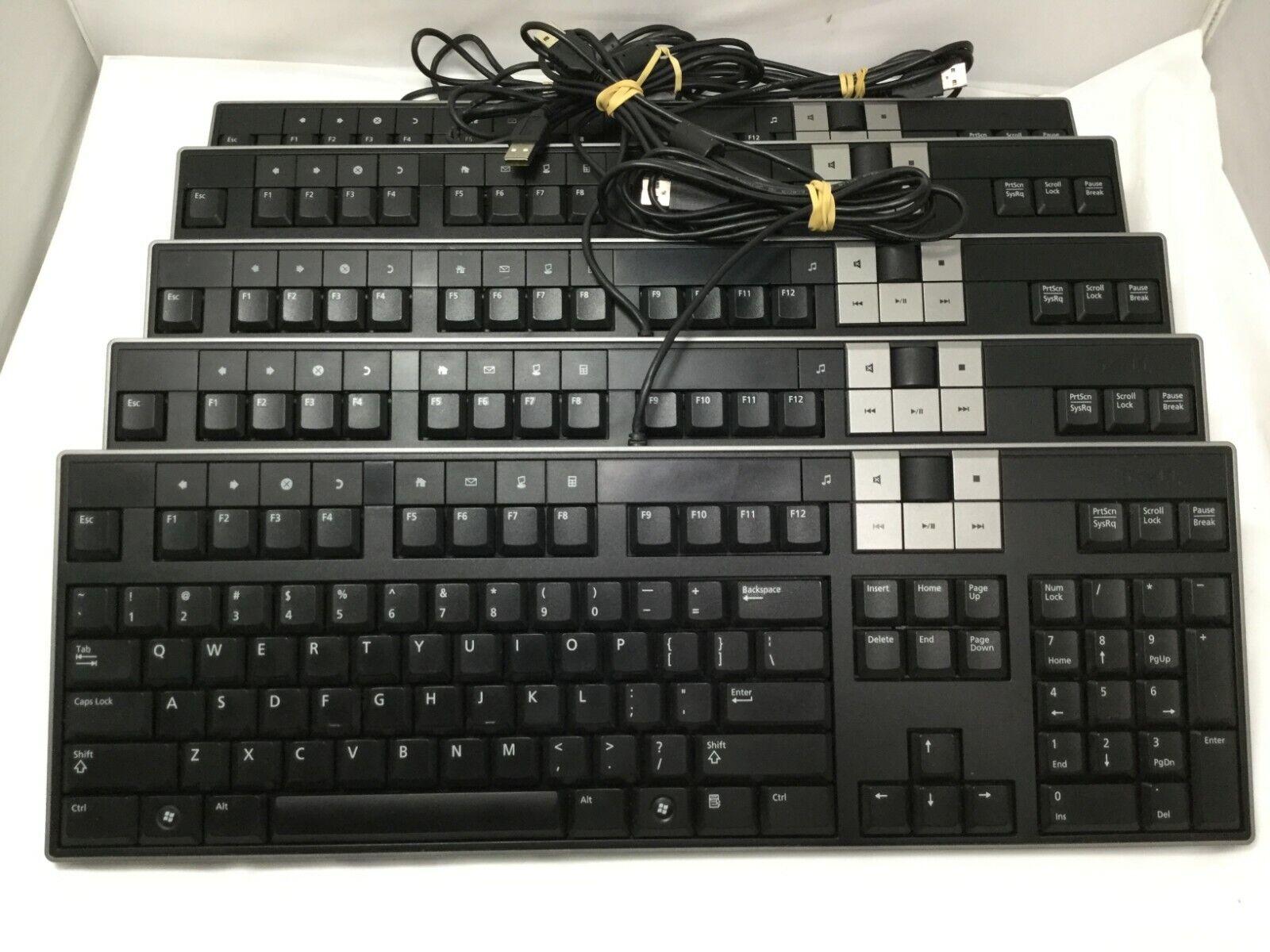 Lot 5 Dell Y-U0003-DEL5 U473D Enhanced Multimedia USB Keyboard With 2 USB Ports. Buy it now for 49.99