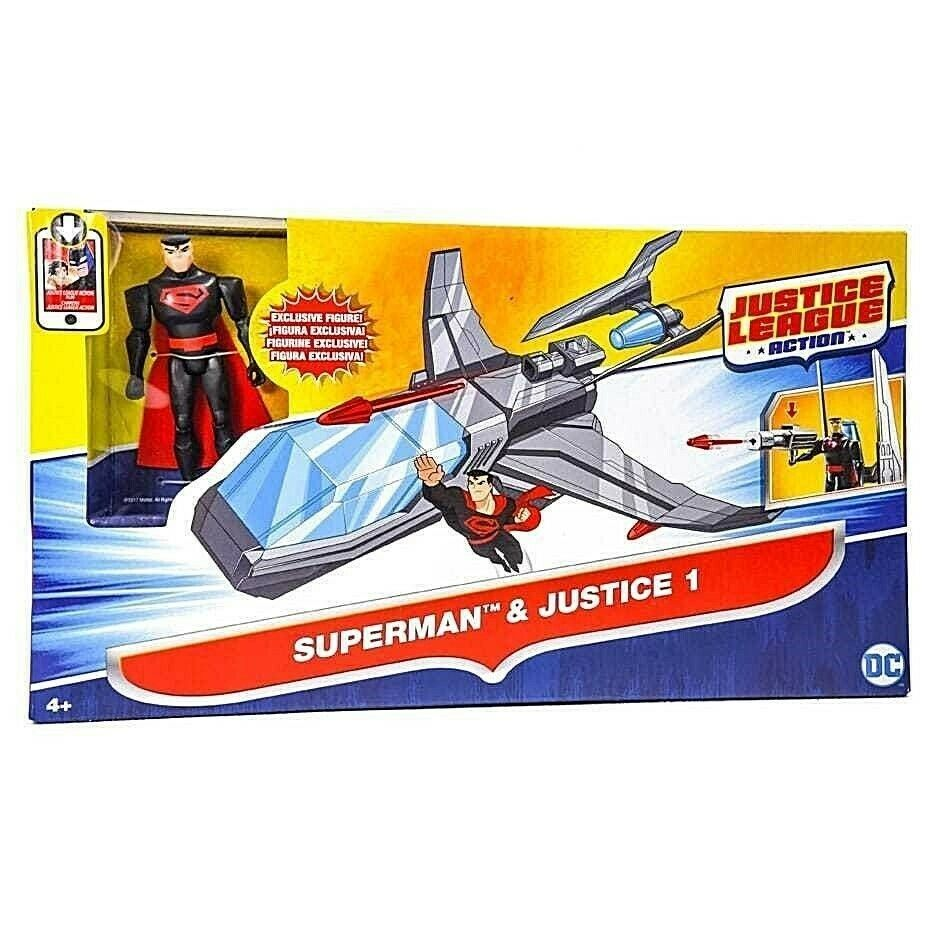 Dc Action Figure Justice League Superman e Justice One Vehicle Mattel