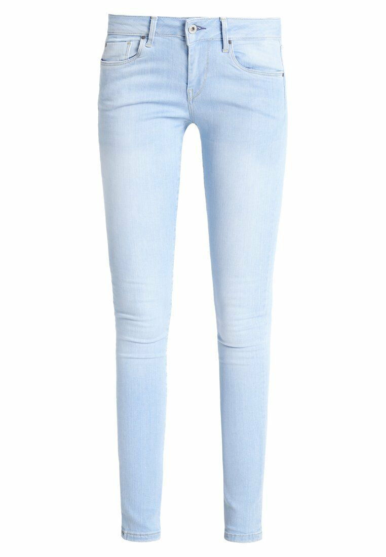 PEPE SOHO Jeans Skinny Fit Tg. w33 l32 Donna Blu a5030