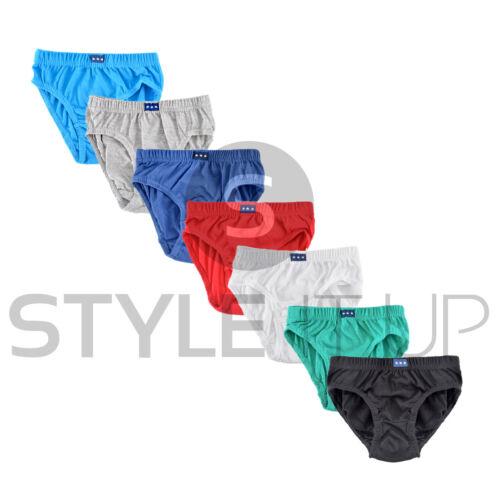 New Kids Boys Briefs Pants Underwear 7 Pack Plain 100/% Cotton Underpants 2-8 Yrs
