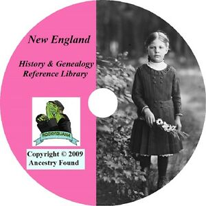 145-old-books-NEW-ENGLAND-History-Genealogy-Families