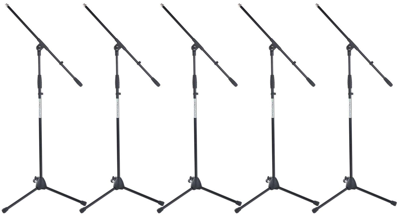5x Support Trepied Monture Microphone Dj Pa Scene Studio Set Ajustable 66-155cm