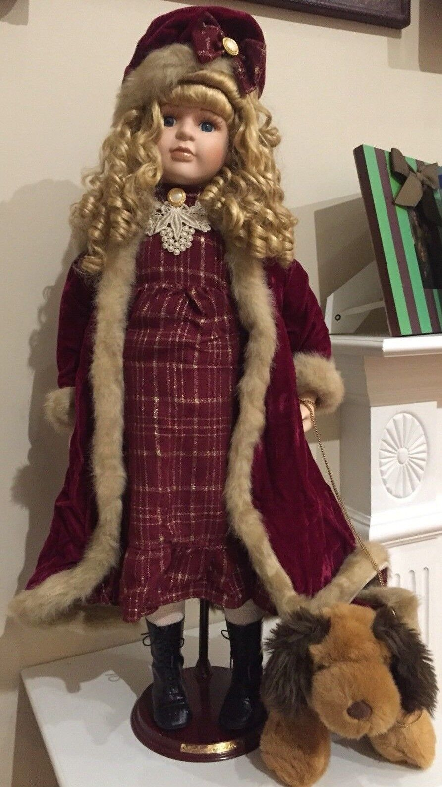 Ttutti Vintage Porcelain bambola With Doggie Collector's  choice by Dan Dee 31  ttutti   fabbrica diretta