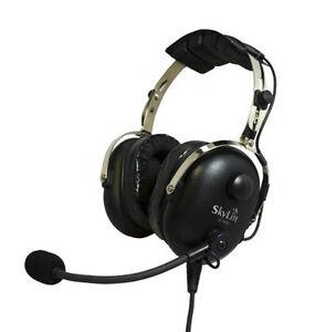 sl 900 skylite aviation pilot ga headset w gel seal dual. Black Bedroom Furniture Sets. Home Design Ideas