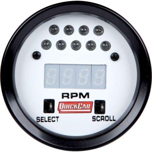 "Quickcar Racing Products 611-7010 Tachometer Gauge 0-20,000 RPM Digital 2-5//8/"""