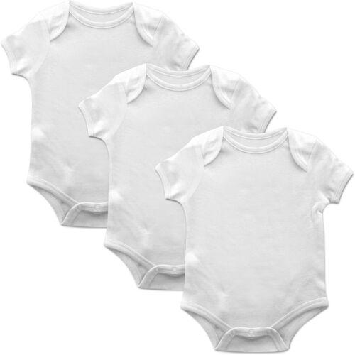 3 Pack Plain Funkytotz Babygrow Gift Baby Grow Boys Girls Present Play Suit