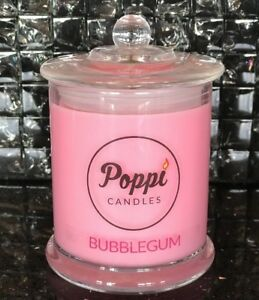 Soy-Candle-BUBBLEGUM-scented-300g-40-hours-burn-time-Large-Jar