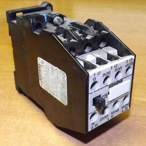 siemens 3tb4017 0a electric contactor 3 pole 3tb 22e 220v ac coil 2x rh ebay co uk