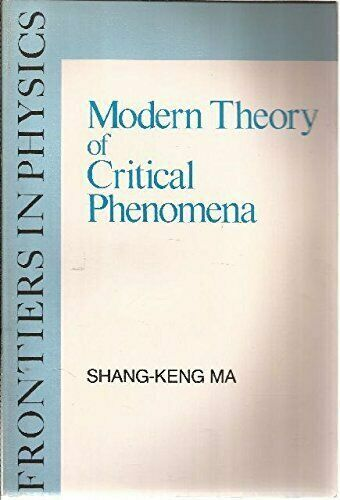 Modern Theory of Critical Phenomena (Frontiers in Physics), , Ma, Shang-Keng, Ve