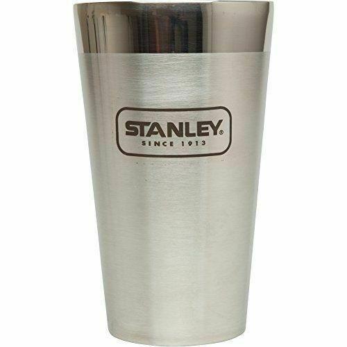 STANLEY ADVENTURE INSULATED VACUUM 470ml 16oz BLACK STACKING BEER PINT