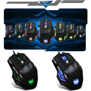 UK-5500DPI-8D-MASTER-T80-Pro-Optical-7-Buttons-Usb-Gaming-Mouse-LOL-RAZER-WOW-CF