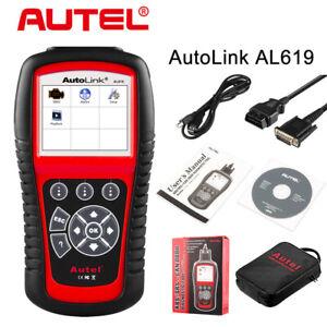 Autel Autolink AL619 OBD2 Auto Diagnostic Tool SRS ABS Scanner Car Code Reader