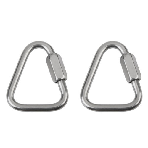 2x Outdoor Triangle Screw Locking Carabiner for Rock Climbing Mountaineering