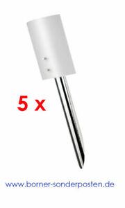 5xWandleuchte-Rundrohr-Glasscheibe-opal-Fackelleuchte-Osram-Designerlampe-Outlet